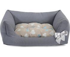 Cuccia Petit Sofà assortita per cani e gatti 60x40x22 cm