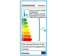 Smartwares RVS46LA Applique da Esterno, Acciaio Inossidabile, Cromo, 24.5x25.5x35 cm