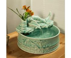 PRIDE S Bambù creativo decorazione ceramica acqua Feng Shui Fontana Fish Tank umidificatore piccole imbarcazioni