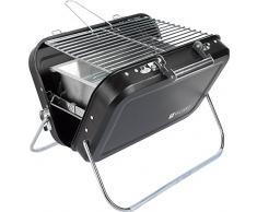 Valiant Nomad Pieghevole Barbecue Portatile, Nero