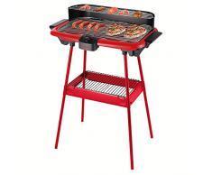 Be Nomad dom297r Barbecue elettrico su piedi rosso/nero