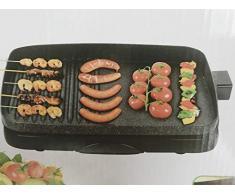 B-black Barbecue Elettrico Grill, Piastra bistecchiera elettrica 1500W piastra staccabile