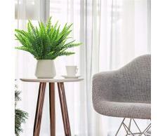 Artificiale Boston Felce Cespuglio Pianta Arbusti Vegetazione Cespugli per Interni Esterni Home Garden Office Veranda Decorazioni Matrimonio- 4 Grappoli