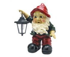 Solar Garden Gnome Statue - Edison Gnome con lanterna solare - Outdoor Garden Gnomes - Statue Lawn Gnome