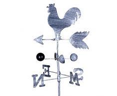 knowledgi Galletto Banderuola Segnavento Banderuola in Metallo con Rubinetto di Ferro Retro Banderuola Ornamento da Giardino con Terrazza Giardino