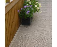 Per interni/esterni m2 – Lifestyle piastrelle (resistente alle intemperie) – per balcone, giardino, terrazze, patio, garage, piscina, casa, vasca idromassaggio – molti colori disponibili., beige
