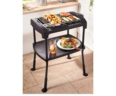 Cortile BBQ Bar barbecue elettrico Cool Touch 2000 W elettrico da tavolo elettrico Grill Barbecue BBQ Party Grill Grill (balcone tavolo Gril) Standgrill