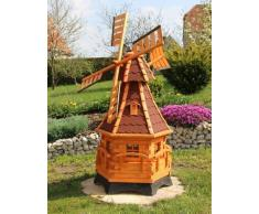 Grande mulino a vento con banderuola segnavento e solare Tipo 12.1 - 1,20 m, rosso