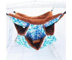 blu cavie I3C criceti scoiattolo per criceti topi cucce e cucce per furetti Amaca a triplo strato chincilla