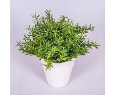 artplants.de Set di 2 x Arbusto di rosmarino Artificiale, in Vaso, 23 cm - 2 Pezzi di Rosmarino Decorativo/Erba aromatica