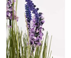 Set 2 x di Ciuffo d'erba con lavanda decorativo, lilla, 60 cm - 2 pezzi di Arbusto decorativo / Pianta artificiale in vaso - artplants