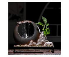 Ornamenti di Feng Shui della Fontana DellInterno di Stile Moderno, Grande per LOrnamento Domestico, Compleanno Ideale, Anniversario O Presente di Nozze,A