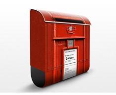 Cassetta postale Letterbox In UK | 39x46x13cm Cassetta per lettere Cassetta postale di design con Supporto Giornale Cassetta postale con giornale rotolo Post Box, Dimensione: 46cm x 39cm