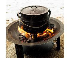 BBQ-Toro Potjie l Scelta di Varie Dimensioni l Pentola in ghisa l Forno Olandese sudafricano (Potjie #2 (ca. 6 litros))