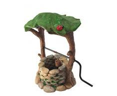 Pozzo dei desideri in miniatura con impugnatura mobile e secchio dell'acqua per nani da giardino - accessorio giardino fatato