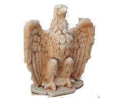Statua di Aquila Imperiale Statua Scultura Da interno ed esterno H cm 64 - Vivaio Santabernadetta