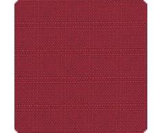 Beautissu Cuscino per sedie sfoderabile Pia - per mobili da giardino in rattan o legno - trapezoidale 45x40x5cm - rosso