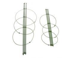 JENOR Supporto per Piante rampicanti da Giardino 45 cm 60 cm Conico graticcio Supporter Frame Rack Stent Gabbie Cerchi