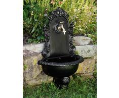 Lavandino Fontana fontane a muro in alluminio in nero nostalgico 72 centimetri