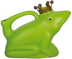 Esschert Design - Annaffiatoio con manico, a forma di Principe Ranocchio, da circa 24 x 12 x 20 cm, robustissimo, vari colori verde