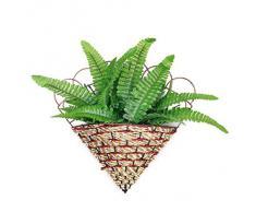 Pixnor Fern decorativa Pianta artificiale bella erba foglie pianta