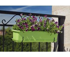 Balconiera fioriera con sottovaso Venere 30 cm Verde