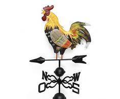 L.J.JZDY Segnavento Gallo Weathervane 48 Pollici Metallo Banderuola con Gallo Ornamento banderuola Banderuola a Tetto Segnavento for tetti