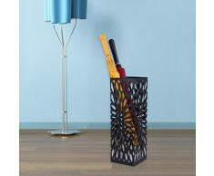 Songmics Porta ombrelli Portaombrelli in ferro quadro, altezza:49cm, Nero , LUC48B