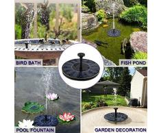 BAONUOR - Fontana a energia Solare per laghetto, con 6 Effetti a energia Solare, Galleggiante, Pompa per laghetti da Giardino o fontane a zampillo