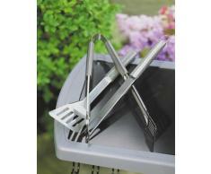Weber 6420 Posate per barbecue in acciaio INOX, 3 pezzi