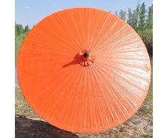 Ombrello, Parasole da giardino in legno con base da 2 m ombrellone da ombrellone da ombrellone ombrellone impermeabile parasole stabile per spiaggia / terrazzo / balcone / mercato + protezione solare