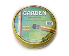 """Tubo gomma giardino canna acqua 3/4"""" x 25 mt MADE IN ITALY rinforzato irrigazione casa orto giardino cantiere."""