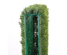artplants.de Set di 2 x Separé in siepe di Tasso Artificiale Fanno, Verde, 100x20x80 cm - 2 Pezzi di Pianta Decorativa/Cespuglio Finto