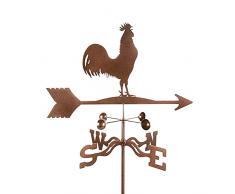 Banderuola Il Canto del Gallo Segnavento Indicatore di Direzione del Vento Weathervane Acciaio Inossidabile Ornamento per La Decorazione del Giardino E della Fattoria