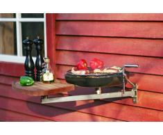 Nielsen Outdoor Solutions - Barbecue con braccio da balcone e tagliere