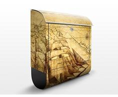 Cassetta postale design Time Of Exploration 39x46x13cm, Größe:46cm x 39cm