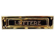 Buca Per Lettere per Posta in Ottone Stampato Finitura Ottone Lucido Art 2501