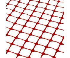 Barriera di sicurezza in plastica PET / Recinzione | SORARA | Arancio | Larga 30 m | Alta 1,2 m / 120 cm | Durevole / Maglia / Rete / Rotolo / Prato / Giardino / Agricoltura / Ambiente / Costru