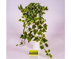 Edera artificiale su stelo, 330 foglie, verde-bianco, 70 cm - Pianta rampicante / Edera decorativa - artplants