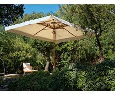 My Garden Oasis Ombrellone da Giardino, 3 x 3 Metri, Ecrù