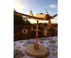 Segnavento, aereo in legno, idea regalo, modellino aereo, aeromodello