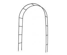 defacto DF- 002 - Arco per rose rampicanti, 230 x 118 x 40 cm, in metallo, colore: nero