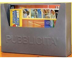 Cassetta postale porta pubblicita' volantini in acciaio colore antracite