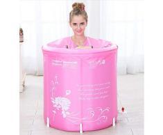 Idromassaggio Vasca da Bagno Vasca da Bagno Gonfiabile per Uso Domestico Vasca da Bagno Pieghevole per Esterno Vasca da Bagno per Adulto Vasca da Bagno (Color : Pink, Size : 70 * 70cm)
