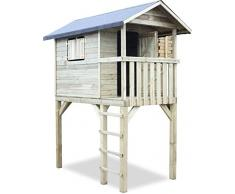 Casetta palafitta per bimbi in legno autoclavato