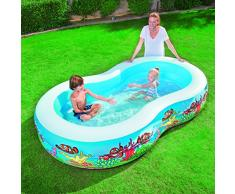Bestway 54118 - Piscina Family a Otto Barriera Corallina, 262 x 157 x 46 Cm