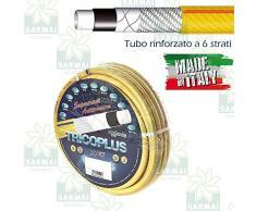 TUBO POMPA IRRIGAZIONE PER GIARDINO 6 STRATI TRICOPLUS 5/8 POLLICI 4 STAGIONI (50 metri)