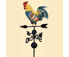 Banderuola Gallo, 130 Cm Colorato Disegno Tradizionale Segnavento Indicatore Rotante Vento Per Giardino Cortile Ornamento Piazza Del Mercato Patio Disegno Tradizionale Colore Gallo Decorazione