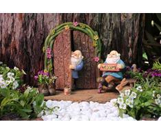 Pretmanns, gnomi in miniatura per il giardino fatato, set da 6 statuine di gnomi