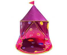 Tenda da gioco per bambini Tenda da principessa per ragazze, Tenda da castello pop-up Tende per bambini per interni ed esterni, Casetta con borsa da trasporto, Regalo per il compleanno